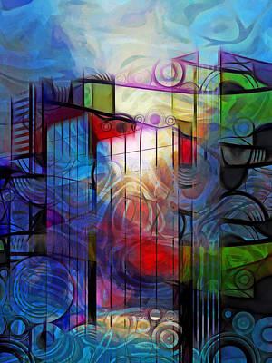 Thematic Digital Art - City Patterns 2 by Lutz Baar