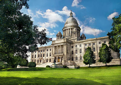 City - Providence Ri - The Capitol  Print by Mike Savad