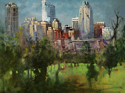 Nc Painting - City Set On A Hill by Dan Nelson