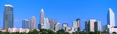 City Skyline, Charlotte, Mecklenburg Print by Panoramic Images
