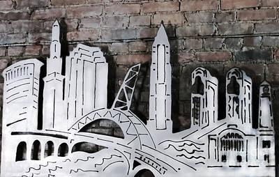 City Skyline Print by Patricia Januszkiewicz
