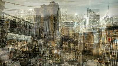 Digital Art - City Sounds Cityscape by Mary Clanahan