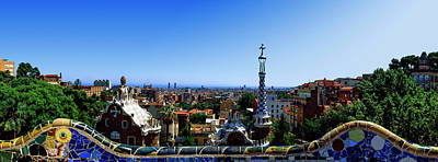 Barcelona Photograph - City Viewed From Park Guell, Barcelona by Panoramic Images