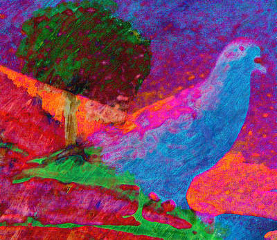 Pigeon Mixed Media - Citybird Visits The Country by Lenore Senior