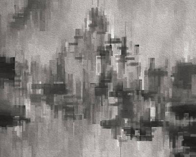 Language Digital Art - Cityscape 3 by Jack Zulli
