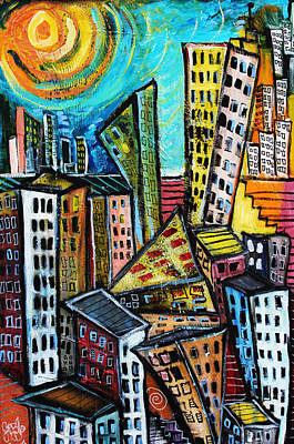 Painting - Cityscape  by Jon Baldwin  Art