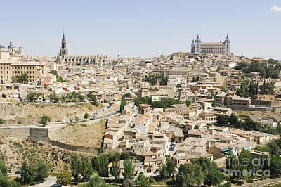 Castle Photograph - Cityscape Of Toledo Spain by Oscar Gutierrez