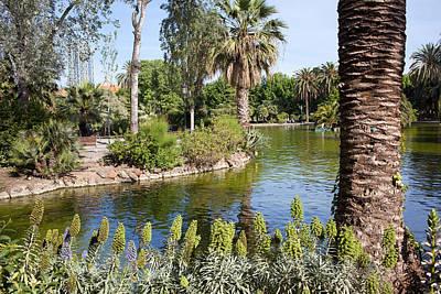 Nature Center Pond Photograph - Ciutadella Park In Barcelona by Artur Bogacki