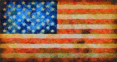 Old Glory Mixed Media - Civil War Flag by Dan Sproul