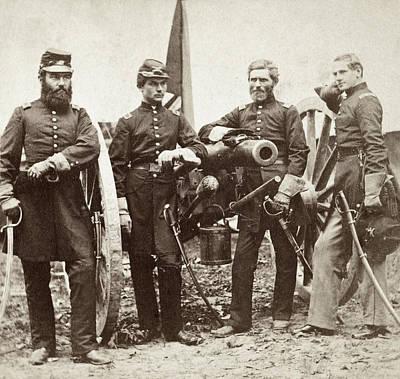 Robertson Painting - Civil War Major Robertson by Granger