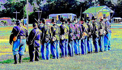 Civil War Platoon By Earl's Photography Print by Earl  Eells a