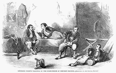 Prison Painting - Civil War Pows, 1861 by Granger