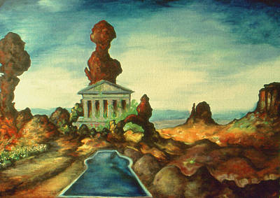 Civilization 2299 - Oil Print by Art America Online Gallery