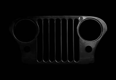 Cj Grille- Fade To Black Print by Luke Moore