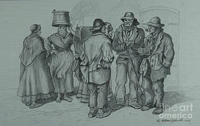 Claddagh People 1873 Print by William Goldsmith