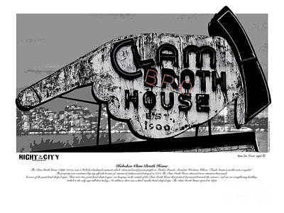 Graphic Digital Art Photograph - Clam Broth House Sign by Kenneth De Tore