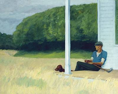 Domestic Animals Painting - Clamdigger by Edward Hopper
