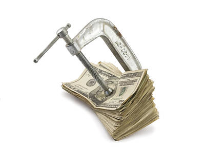 Debt Digital Art - Clamp Putting Pressure On American Money Concept by Keith Webber Jr