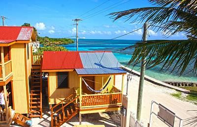 Belize Photograph - Clapboard Houses On Caye Caulker Belize by Lee Vanderwalker