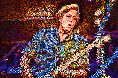 Eric Clapton Mixed Media - Clapton's Musical Energy by Tyler Robbins