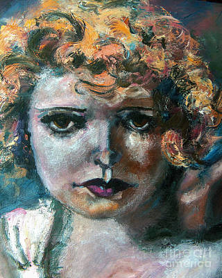 Oil Portrait Painting - Clara Bow by Ginette Callaway