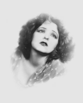 Clara Bow Pencil Print by Stefan Kuhn