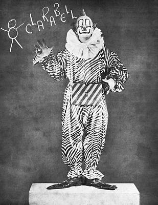 Perform Photograph - Clarabell The Clown by Underwood Archives