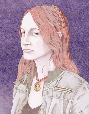 Denim Drawing - Clare by Jack Puglisi