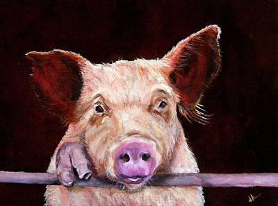 Animal Painting - Clarence Is Hopeful by Diane Kraudelt