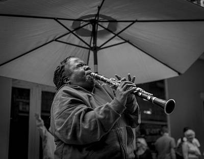Loud Photograph - Clarinet Player In New Orleans by David Morefield