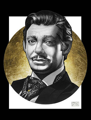 Archetype Painting - Clark Gable by T M Rhyno