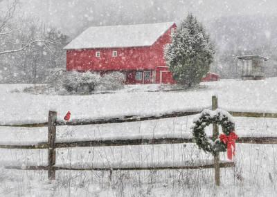 Clarks Valley Christmas 2 Print by Lori Deiter