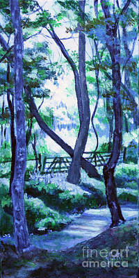 Painting - Clarksville Greenway 2 by Janet Felts