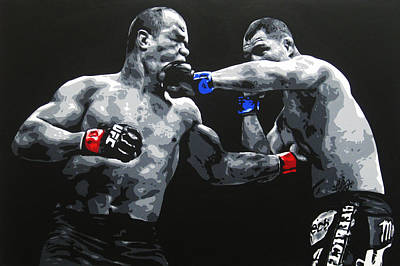 Ufc Painting - Clash Of The Titans by Geo Thomson