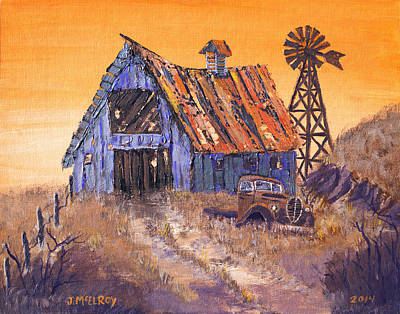 Barns Painting - Class Of 39 by Jerry McElroy