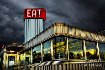 Stainless Steel Photograph - Classic American Diner by Diane Diederich
