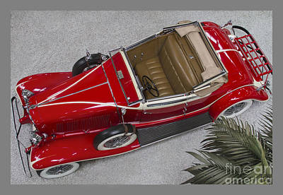 Classic Auburn Convertible Coupe Print by Heiko Koehrer-Wagner