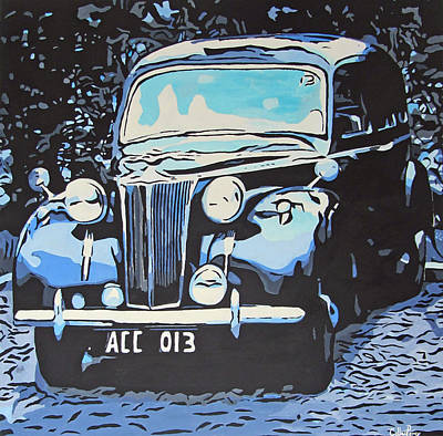 Classic Blu Automobile Original by Callan Percy
