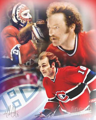 Montreal Canadiens Digital Art - Classic Canadiens by Mike Oulton