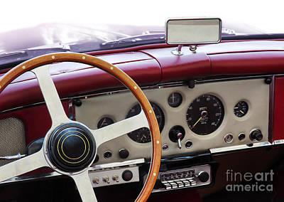Cockpit Photograph - Classic Car by Carlos Caetano