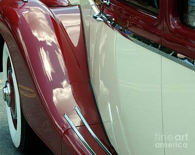 Classic Car Fender Print by Donna Cavanaugh
