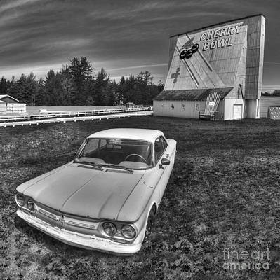 Michigan Theatre Photograph - Classic Car In Front Of Cherry Bowl Drive-in by Twenty Two North Photography