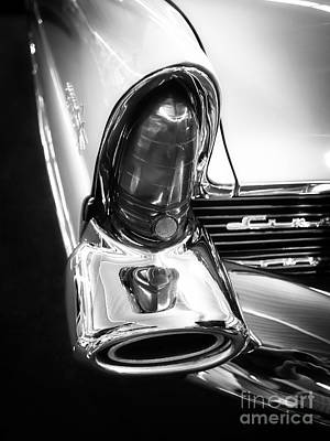 Window Signs Photograph - Classic Car Tail Fin by Edward Fielding