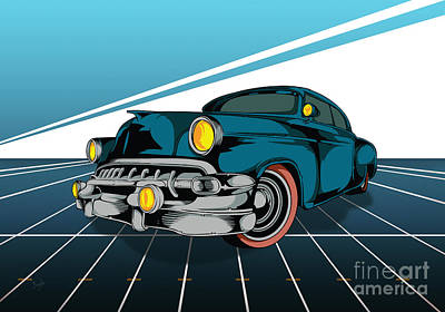 Historic Vehicle Mixed Media - Classic Cars 03 by Bedros Awak