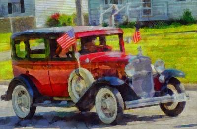 Classic Cars American Tradition Print by Dan Sproul