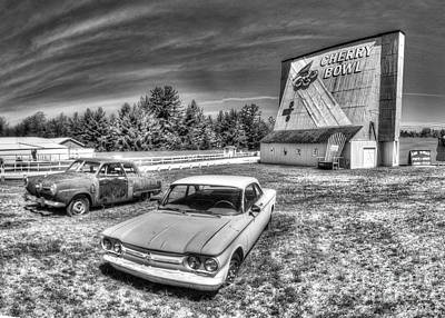 Michigan Theatre Photograph - Classic Cars At The Drive-in by Twenty Two North Photography