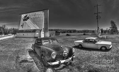 Michigan Theatre Photograph - Classic Cars In Front Of Drive-in by Twenty Two North Photography