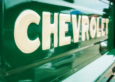 Classic Chevy Truck Tailgate Print by Jon Woodhams