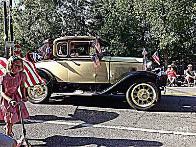 Carnival Victory Photograph - Classic Children's Parade Classic Car East Millcreek Utah 1 by Richard W Linford