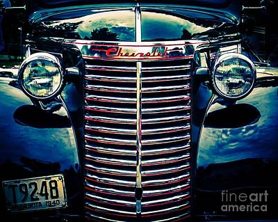 Old Trucks Digital Art - Classic Chrome Grill by Perry Webster